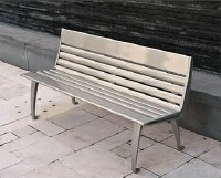 Backed bench