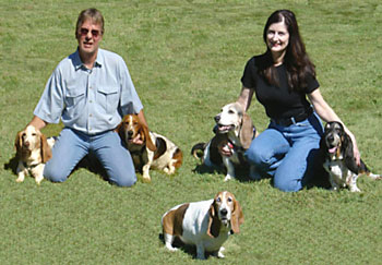 McNultys and their basset hounds