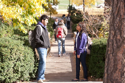 students on campus photo