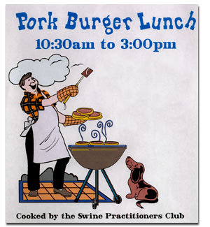 Pork Burger Lunch Poster