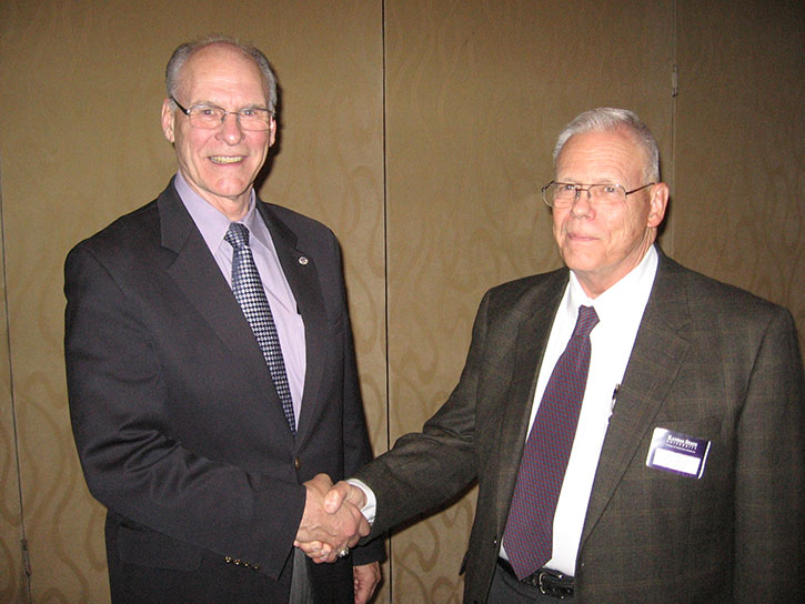 Dr. Robert Ridgway with Dean Ralph Richardson