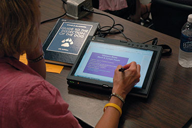 Tablet PCs are an effective tool for teaching veterinary medicine