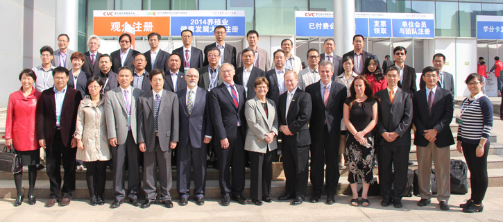 A group photo from the symposium in China