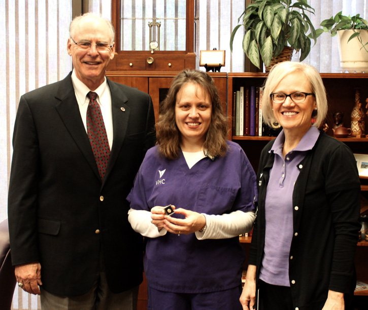 Amy Juracek with Dean Richardson and Shirley Arck