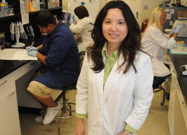 Dr. Annelise Nguyen in her lab