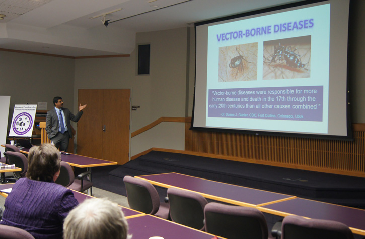 Dr. Roman Ganta explains how ticks spread diseases