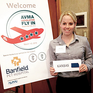 Haily Clemons at AVMA Fly-IN