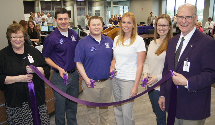 Library ribbon-cutting ceremony