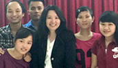Dr. Annelise Nguyen visits with students in Vietnam