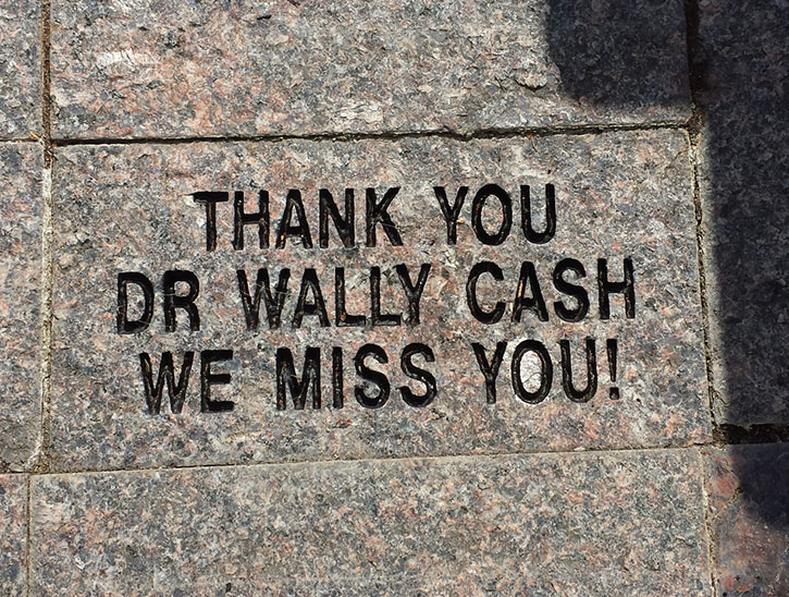 Memorial Brick for Dr. Wally Cash