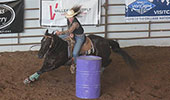 Emily Cary at K-State Rodeo