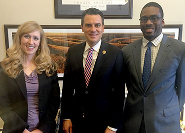 Izabela meets Kevin Yoder (with Allen Mallory)