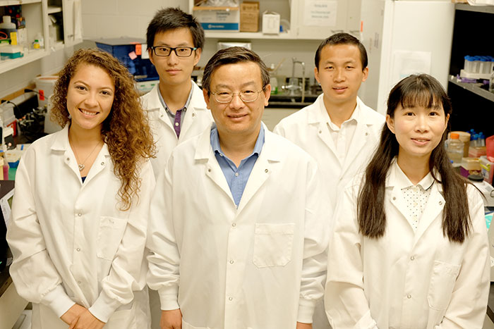 Dr. Weiping Zhang and his lab team