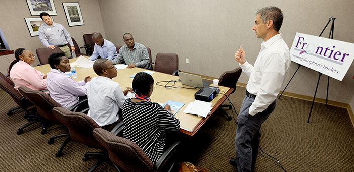 Dr. Justin Kastner meets with Cochran Fellows from Africa