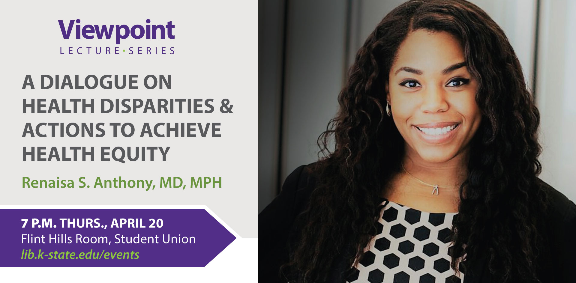 Viewpoint Lectures - Dr. Renaisa Anthony