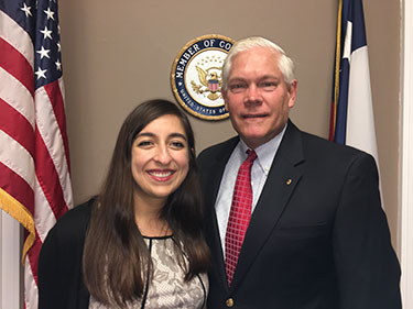Sohaila Jafarian with U.S. Representative Pete Sessions