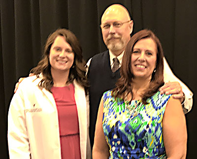 Dr. Greg Grauer with Amy Geske and Dr. Jean Geske