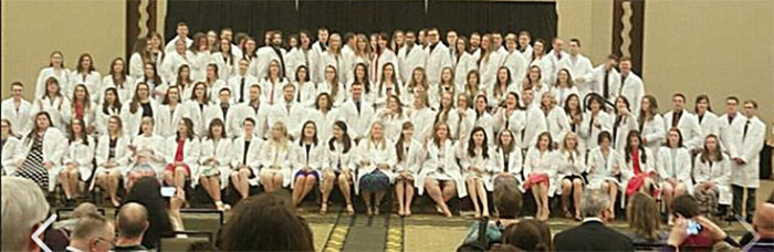 Class of 2018 receives White Coats