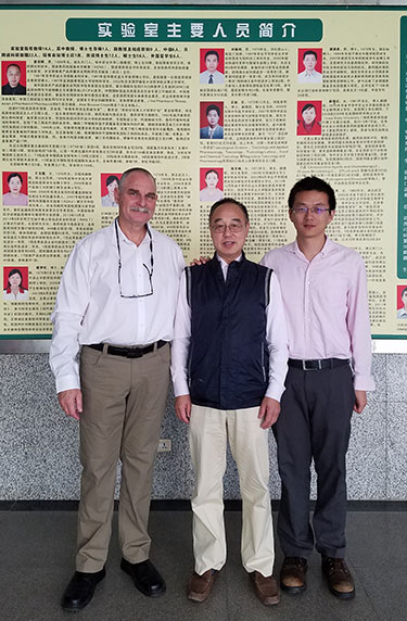 Dr. Lin with Dr. Eran Lavy and Dr. Zonghui Yuan