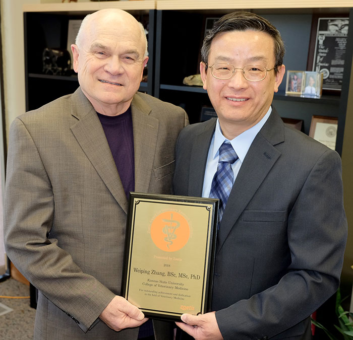 Dr. Frank Blecha and Dr. Weiping Zhang