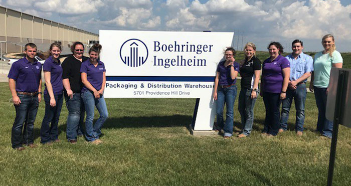 VTPRK students at Boehringer Ingelheim