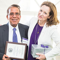 Dr. Harish Minocha and Dr. Bonnie Rush