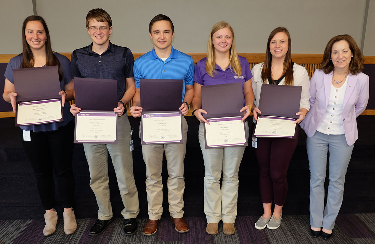 VTPRK students: Natasha Vangundy, Will Patterson, Colton Hull, Shaylee Flax and Whitney Sloan with Dr. Bonnie Rush