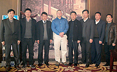 Dr. Philip Hardwidge at Yangzhou University in China