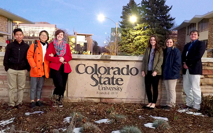 Students at animal welfare meeting at Coloardo State University