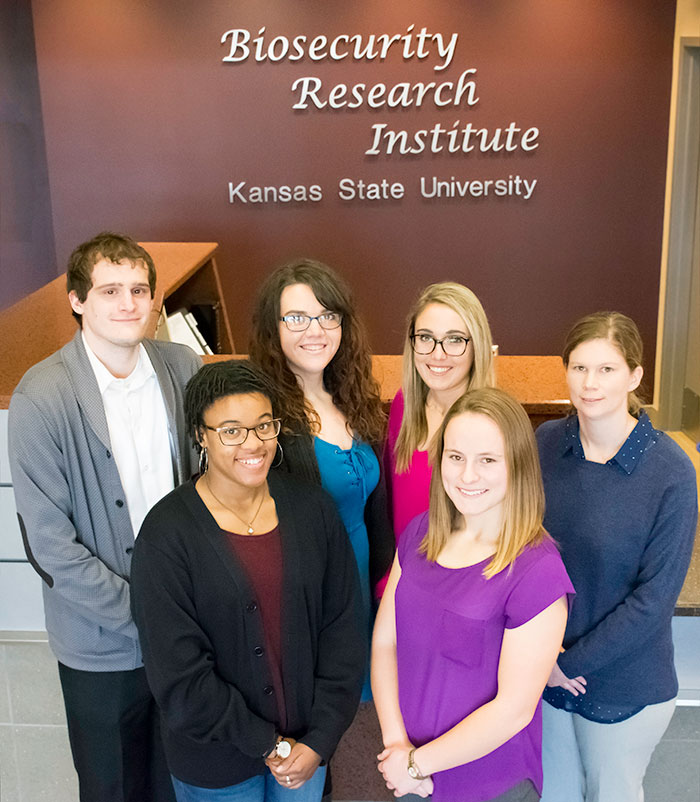 Dr. Matthew Olcha, Hannah White, Jeana Owens, Christian Cook, MaRyka Smith and Amy Lyons