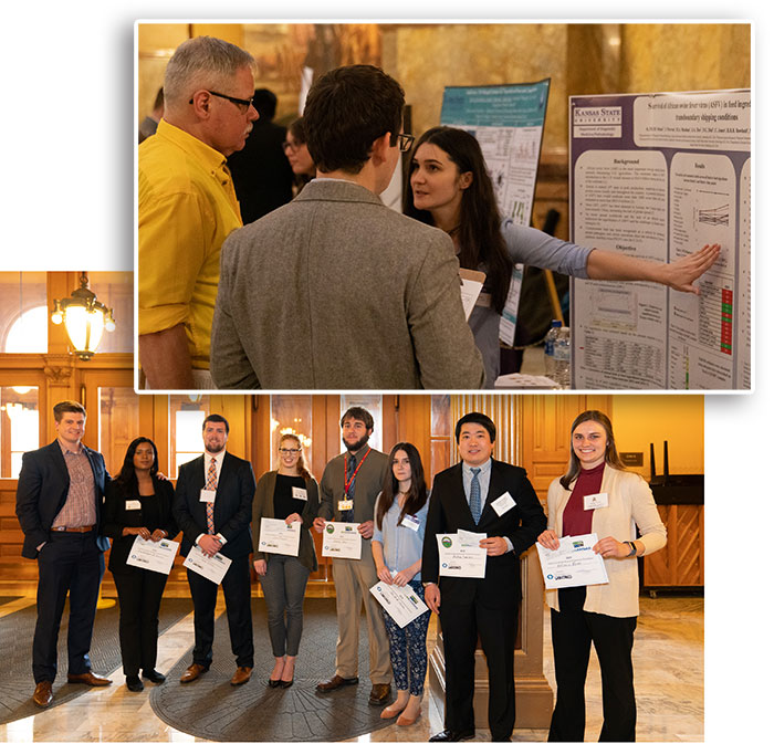 Ana Stoian at the Capitol Graduate Research Summit in Topeka