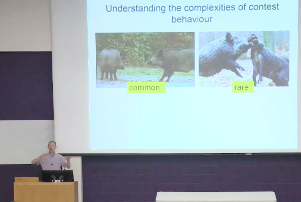 Dr. Gareth Arnott gives presentation on animal behavior