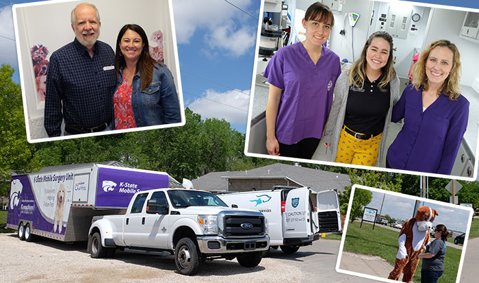 T. Russell Reitz - K-State Mobile Surgery Unit - Open House collage