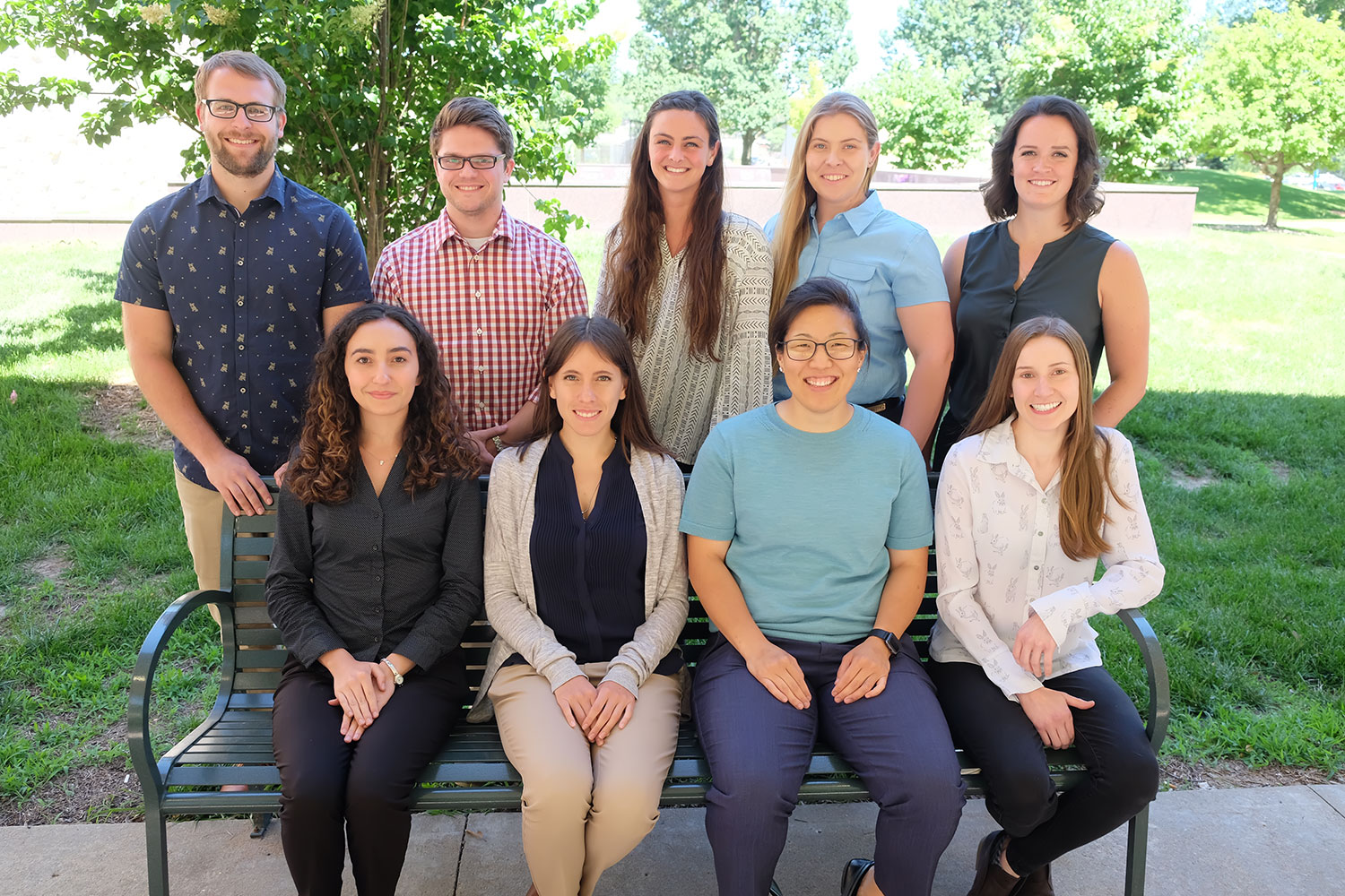 Drs. Jason Banning, Michael Schettler, Tess Rooney, Caitlin Moreno and Katie Mitchell. Front: Drs. Diana Montano Reynoso, Andrea Montano Hernandez, Nalani Yamada and Emily Benfield