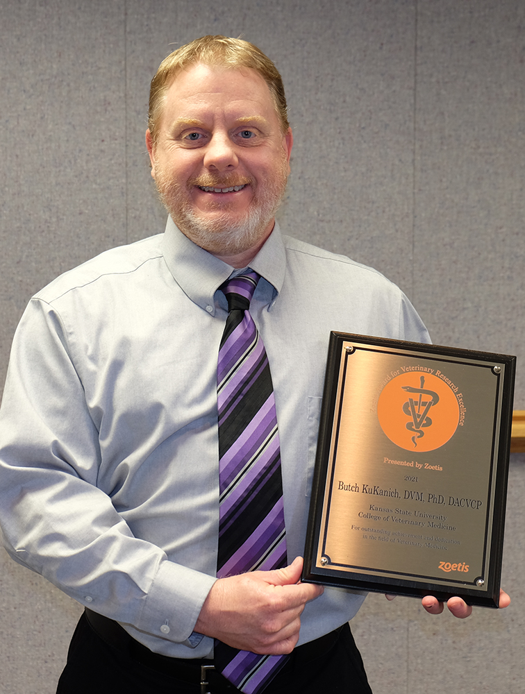 Dr. KuKanich with his award